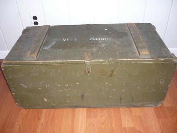 Items Similar To 1943 World War Ll U S Army Foot Locker Trunk Year Marked Says V I I I Group On