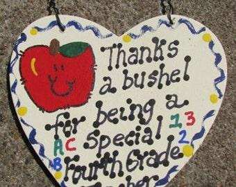 Teacher Gift 6023 Thanks a Bushel Special Fourth Grade Teacher
