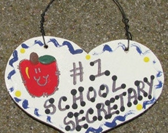 Teacher Gifts Number one  818 School Secretary