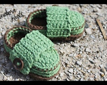 CROCHET PATTERN for Baby Boy or Girl Wide Strap Booties. Pattern number 022. Instant Download