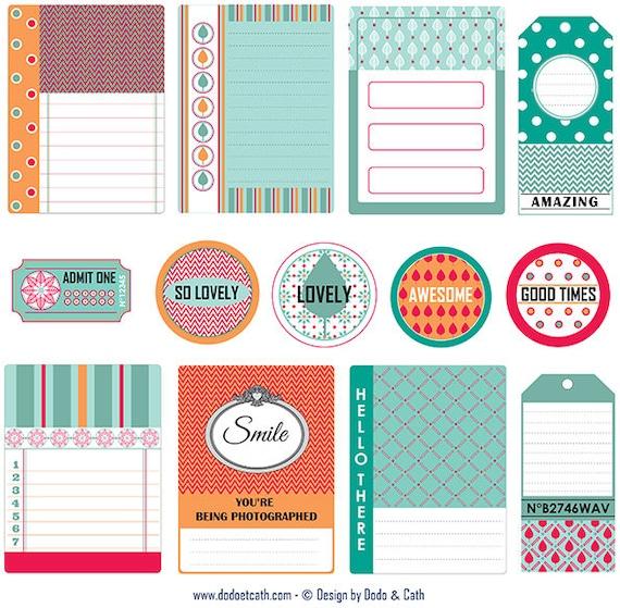 Artikel wie Scrapbooking Embellishments digital zum Ausdrucken ...
