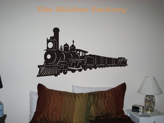 Train Classic Vinyl Wall Art Decor Decal Stickers