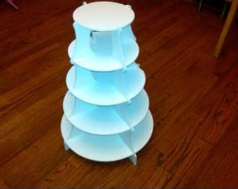 Custom 5 Tier Round Cupcake Stand / Desert Tower