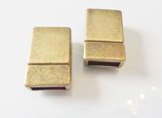 10 strong 10mm flat brass magnetic clasps flat leather finding