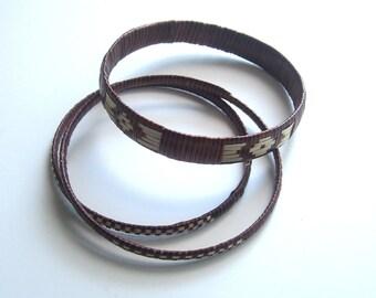 Vintage Woven Bangle Bracelets