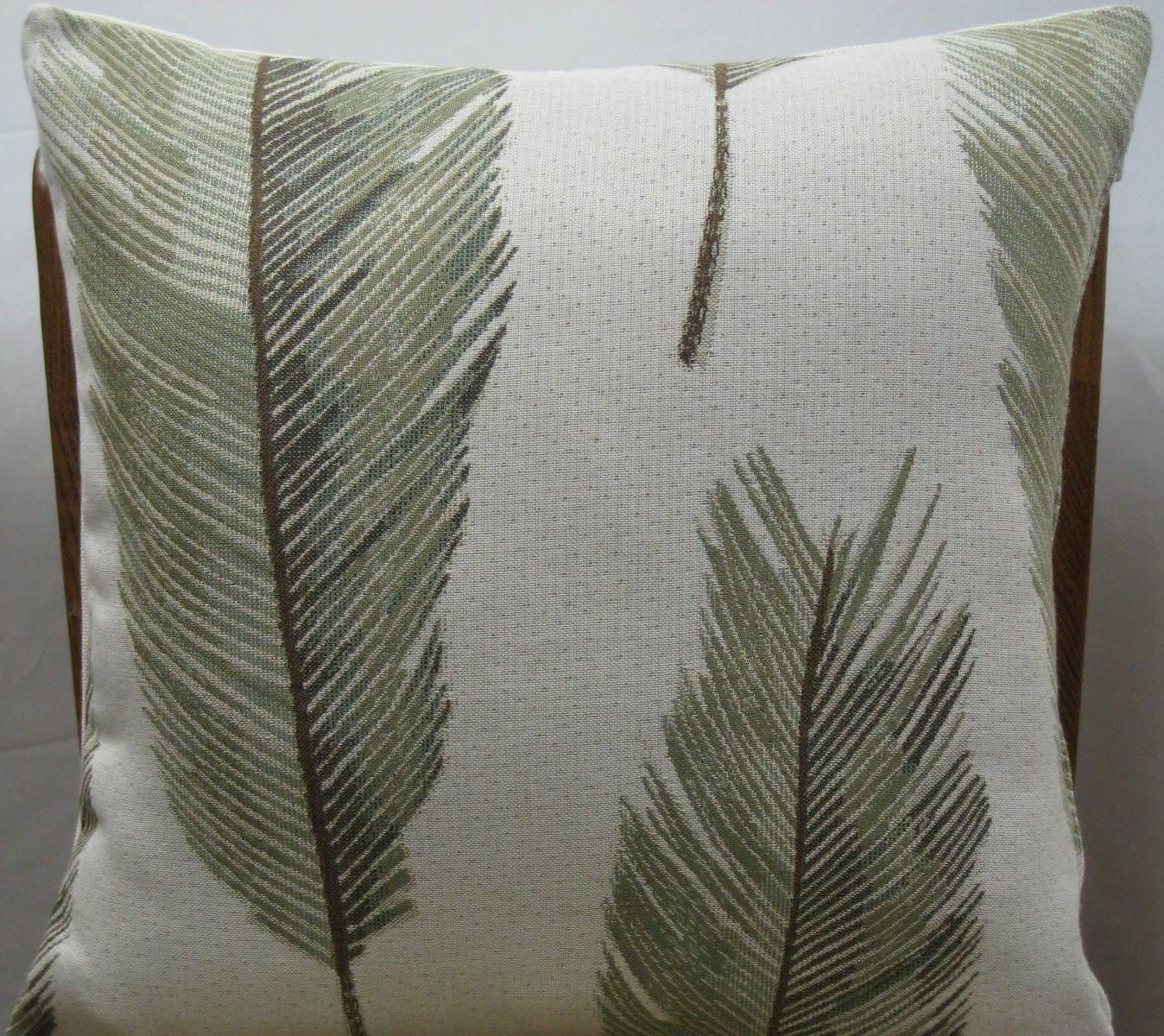 Decorative Pillow Palm Tree : Palm tree leaves decorative pillow cover-18 x 18