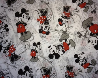 Travel Pillow Case /  Child Size  Pillow Case  /  Mickey and Minnie