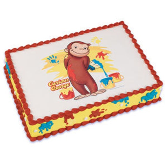 Edible Cake Images Curious George : Curious George Edible Image Cake Topper by ABirthdayPlace ...