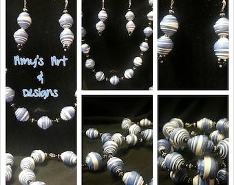 handmade recycled paper jewelry
