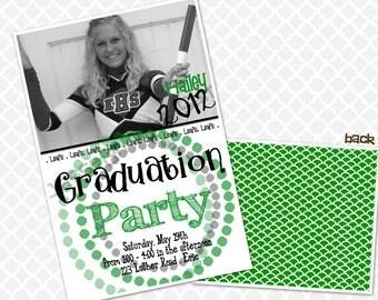 Circles Graduation Party Invite Graduation Open House Invitation High School Graduation