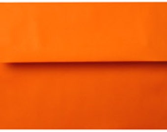 25 Bright Orange A-6 4X6 Envelope 4-3/4 x 6-1/2 Envelope
