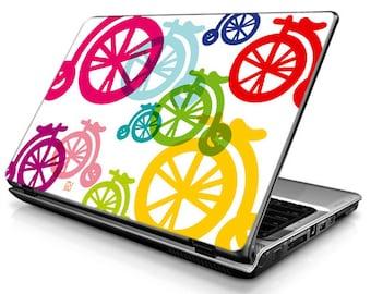 Colorful bicycles big - Laptop Decals - Laptop Skins - Laptop Stickers - Laptop Vinyl
