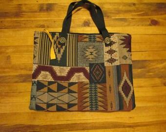 110: Computer bag, Southwestern design