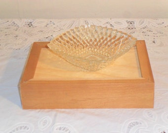 Vintage Square Glass Candy Dish