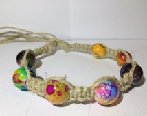 Trippy Beaded Hemp Bracelet