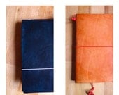 Your Custom Leather for any Travel Notebook Sketchbook or Journal Cover or Moleskine Large Rhodia Webbie or Midori Regular - SOFT HAND