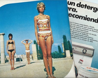 3 Vintage ads from 1971 - Colorful ads - Retro ads - Spain