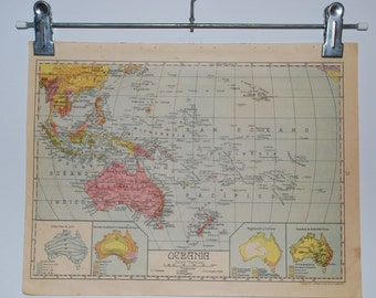 Antique spanish political map of Australia - 1940