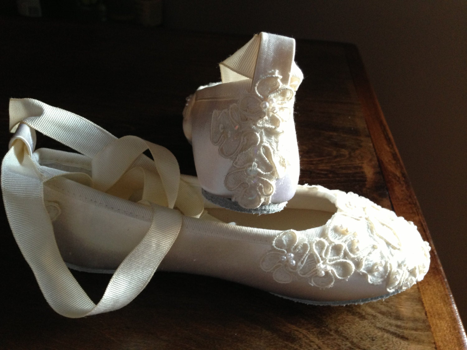 Ivory Colored Flower Girl Shoes