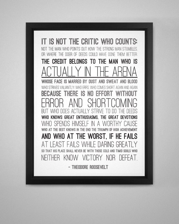 Eloquent image in man in the arena free printable