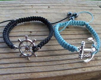 Anchor Bracelet, Ships Wheel Bracelet