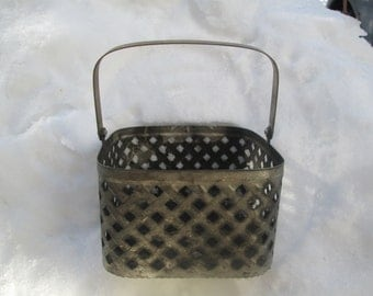 Vintage Metal Home Decor Bascket