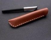 Travel Accessories, Gadget Accessories,Leather pen case handmade pen sleeve