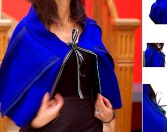 Cape size M (38) Blue zaffre wool