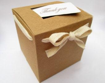 Bulk Brown Kraft Box, Gift Box, Kraft Favor Box Set of 100