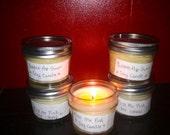 4oz Mason Jar Soy Wax Candle