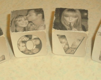 Personalised 2inch wooden photo blocks