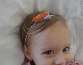 Space Ship Orange: No.2  in the Space Art Series - Infant/Toddler - Headband