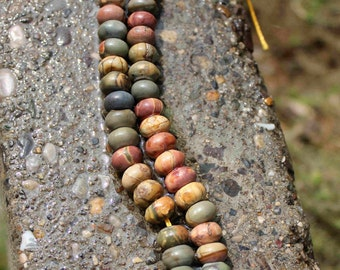 18pcs rondelle Picasso Stone Abacus Gemstone Beads 5mmX9mm B13