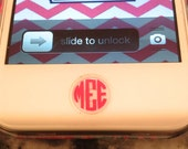 iPhone Monogram Home Button Decal Set of Two