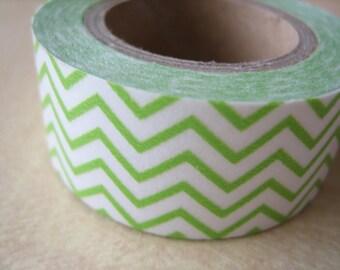 Washi Tape - Single Roll - Chevron - Green and White