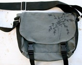 Canvas Messenger Bag: Carrot - Sturdy, Water Resistant, Vegan