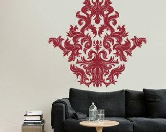Damask Decals – Living Room Wall Decal - Custom Wall Art – Abstract Wall Art – Vinyl Decals - Awesome decals / 039