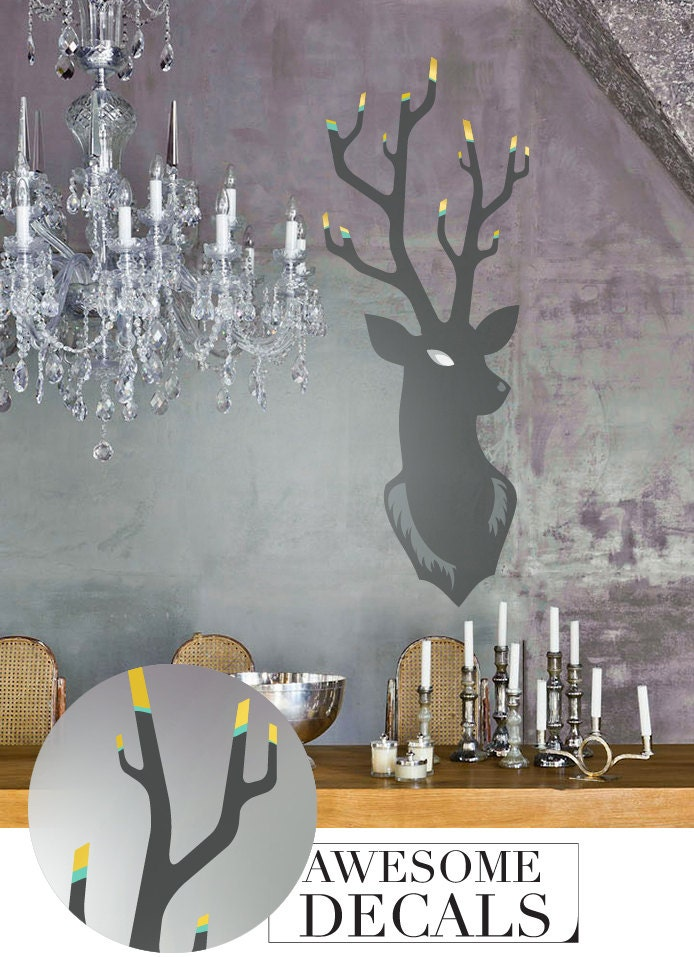 Deer Wall Sticker C Nursery Wall Decal Custom Decals Deer Wall - Custom vinyl wall decals deer
