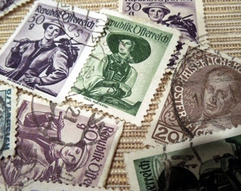 Vintage Postage Stamps from Austria E11