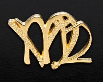 55 Virgo and Capricorn Gold Unity Pendant