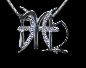 57 Virgo and Pisces Silver Unity Pendant