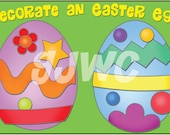 DECORATE An EASTER Egg  Children's File Folder Game - Downloadable PDF Only