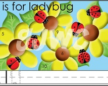 L is for LADYBUG Alphabet File Folder Game - Downloadable PDF Only