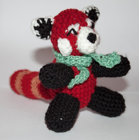 Amigurumi Red Panda : Rufus the Snuggly Plush Amigurumi Red Panda Crochet ...