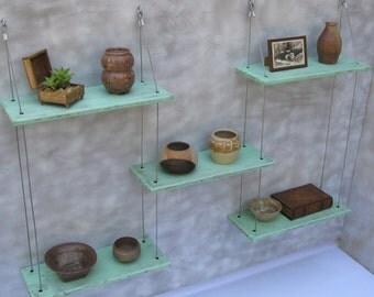shelving, shabby chic, wall shelves, reclaimed shelves, cottage, display shelves, beach decor