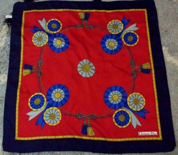 Christian Dior Echarpes 100% Silk Scarf Made in Italy Free Shipping