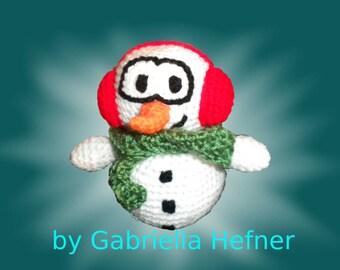 "Amigurumi pattern ""Snowy the Snowman"""