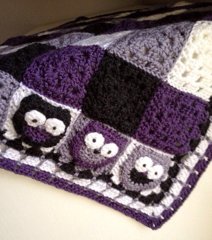 CLEARANCE Crochet Plaid Baby Blanket