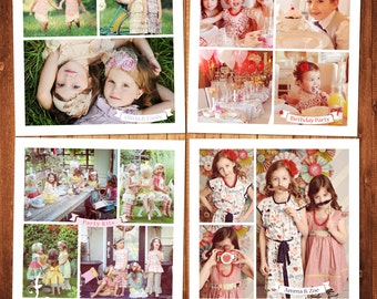 BUY 1 GET 1 FREE Blog Board & Collage Template Photoshop Template Set Instant Download: blog board code -216