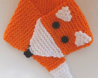 """Instant Download Knitting Scarf Pattern """"Fox"""", for straight needles"""